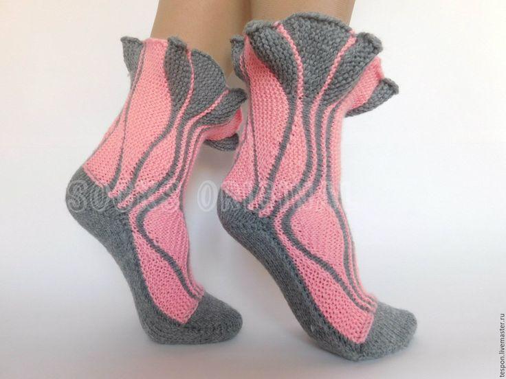 Купить Свинги с рюшами, детские. - серебряный, однотонный, socks original светлана, деские носки, socks swing, swing, socks