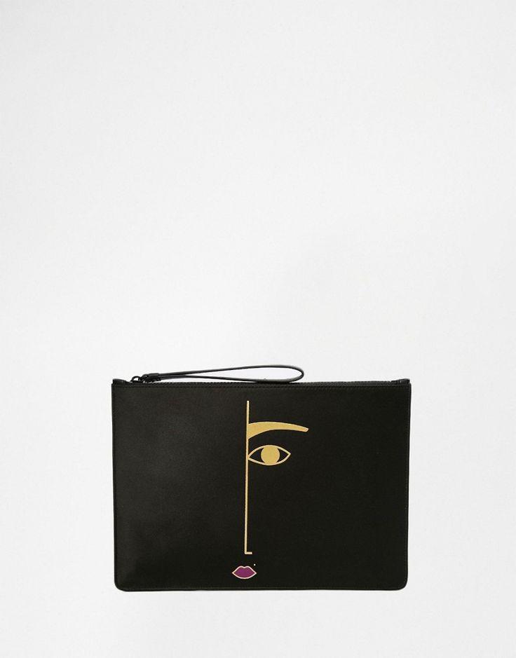Image 1 - Lulu Guinness - Rachel - Pochette motif visage
