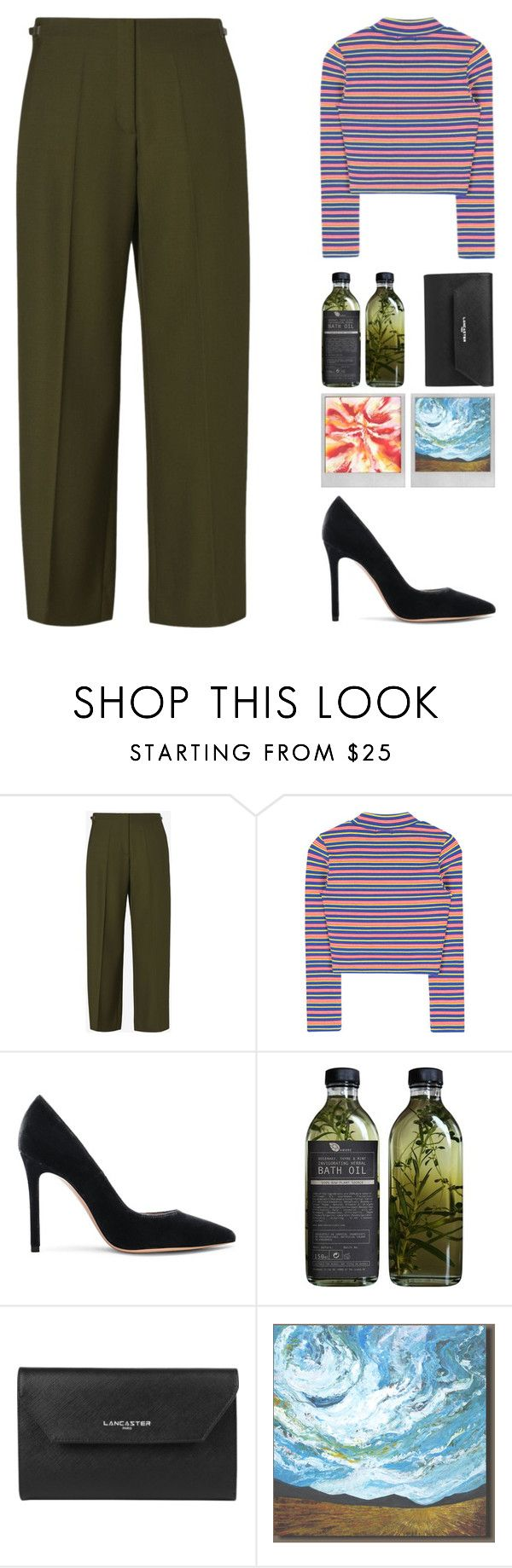 """reborn"" by senjiichan on Polyvore featuring Maison Margiela, Gianvito Rossi, AMBRE, Lancaster, Polaroid and John-Richard"