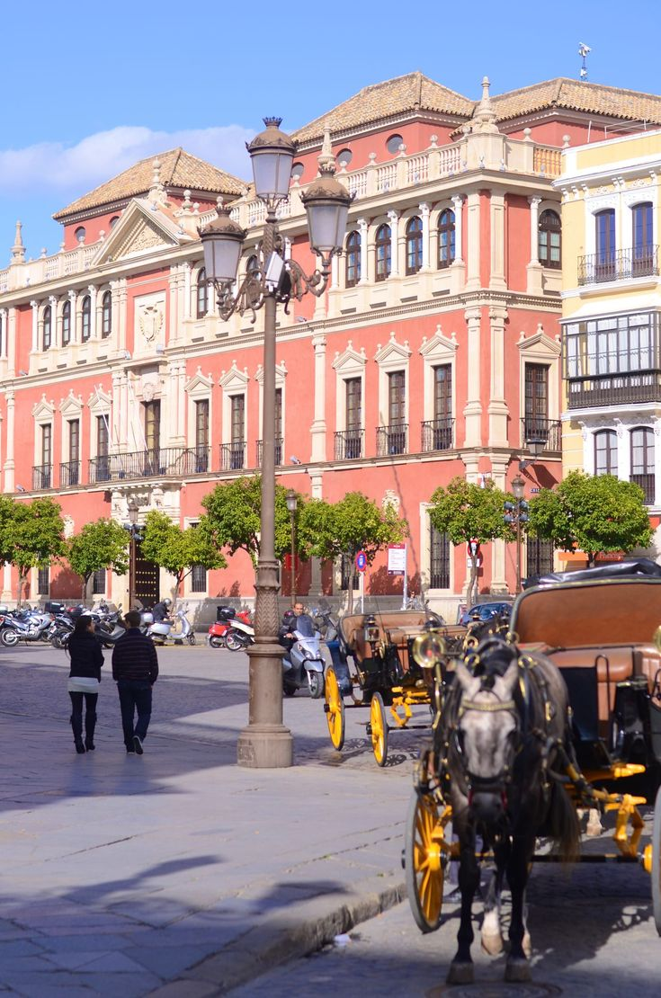 Plaza de San Francisco in Seville, Spain