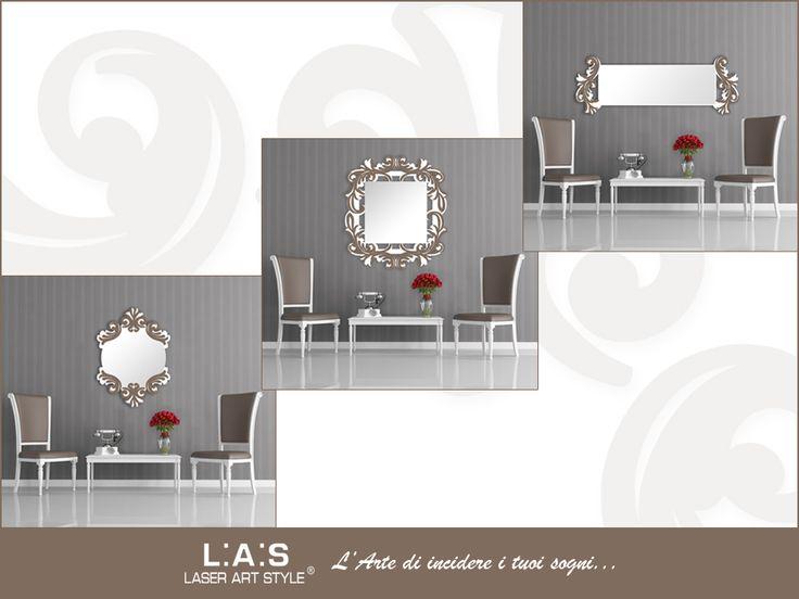 #ChoiceLAS Tonda, quadrata o rettangolare, come dev'essere la tua specchiera ideale? http://www.laserartstyle.it/home/gallery/specchiere/