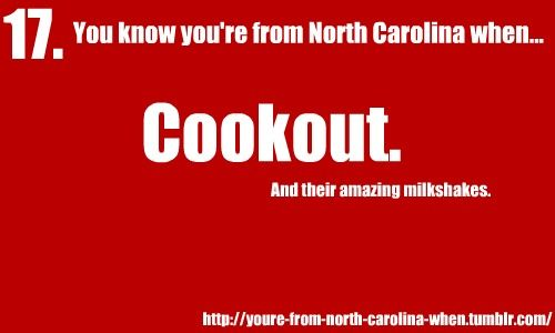 You know youre from North Carolina when...