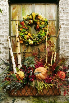 Beautiful Fall Window Box Idea