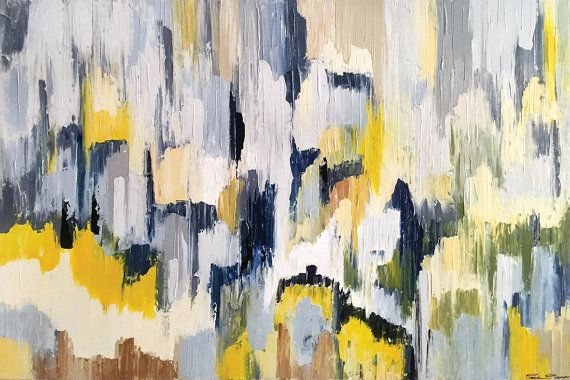 Inverness  60 x 40 Inches  Acrylic Abstract by acasaARTstudio