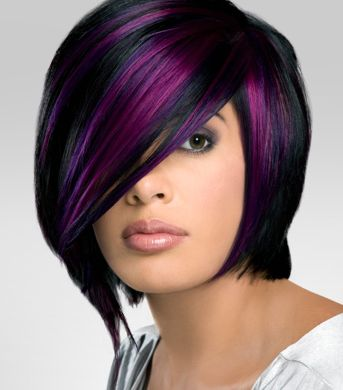Dark Purple Hair  GREAT VIBRANT COLORS USING PRAVANA COLORS Amp CONDITIONE