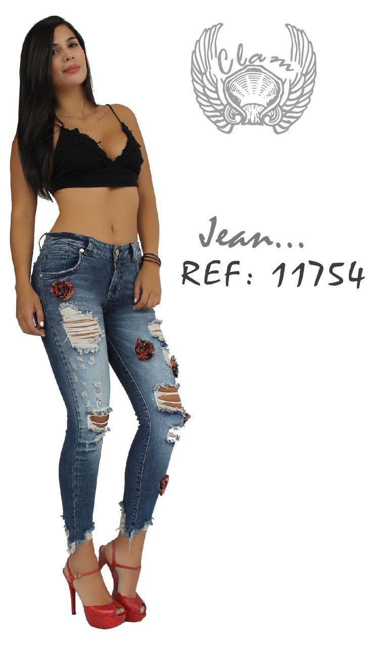 Jeans Decoración flores