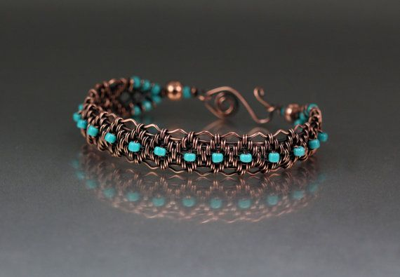 Copper Woven Bracelet Tutorial by LisaBarthJewelry on Etsy, $15.00