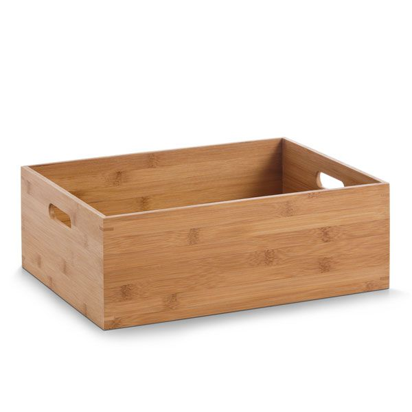 Bamboo display / Stackable Storage Box - 400 x 300 x 140mm