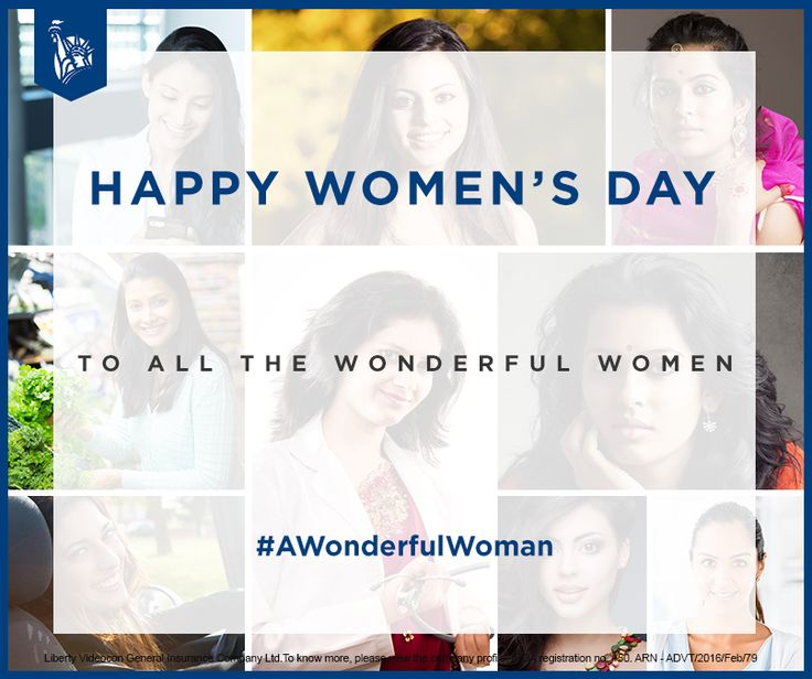 To all the women, who make sure that the world around them stays as wonderful & happy as they are… Happy Woman's Day!