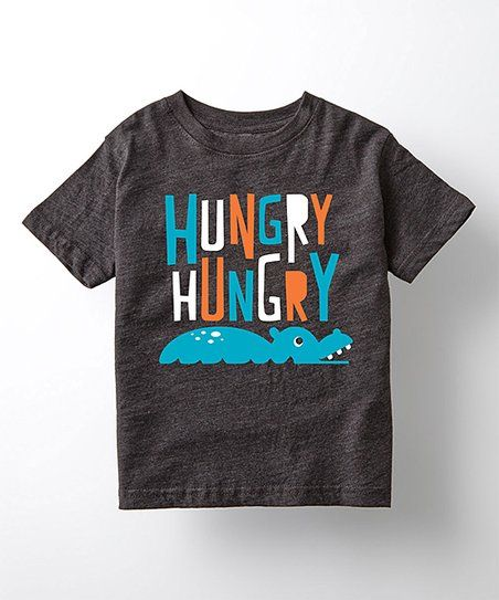 Instant Message Heather Charcoal Hungry Hungry Hippo Tee - Toddler & Kids | zulily