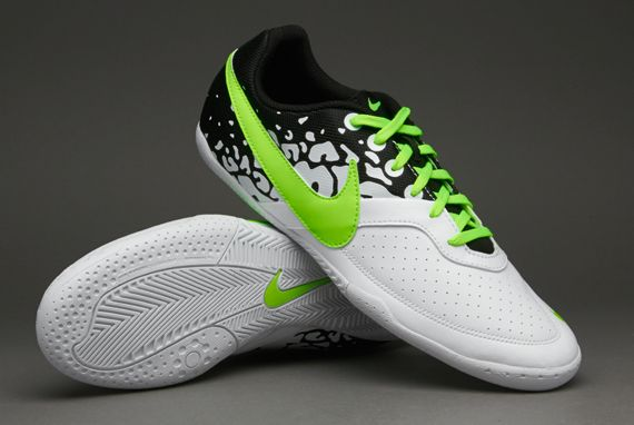 Nike Football Boots - Nike Elastico II - Fives - Indoor - Soccer Cleats - White-Flash Lime Size 11
