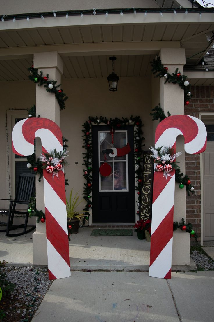 Candy Canes, Christmas Decor, Outdoor Yard Decoration, by