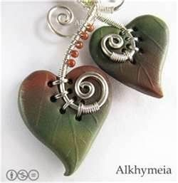 Wire Jewelry Free Patterns - Bing Images    Love the combination of polymer clay and wire