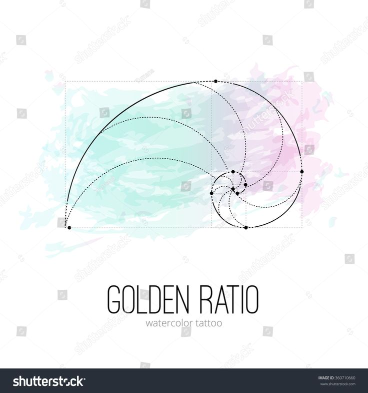 Symbol Of The Golden Ratio Tattoo Isolated Black On The