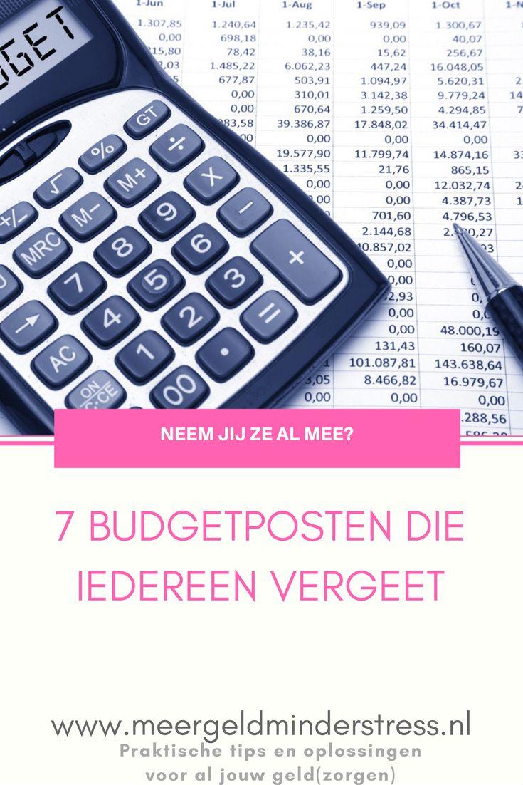 De 7 budgetposten die iedereen vergeet - Meer geld, minder stress