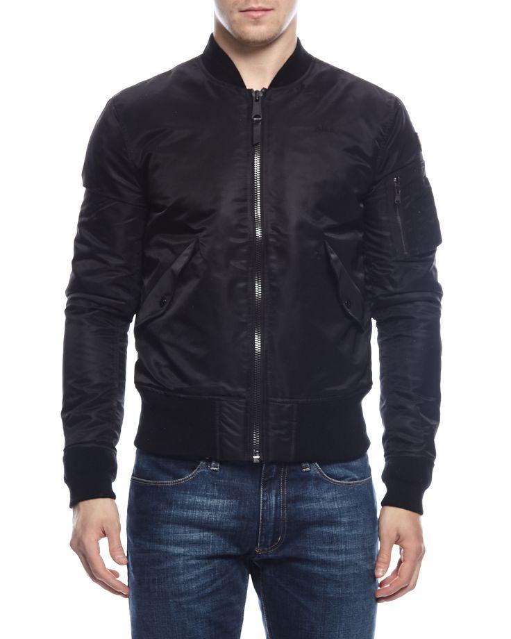 Schott AC Bomber jacket men Black Bomberjackor på Zoovillage