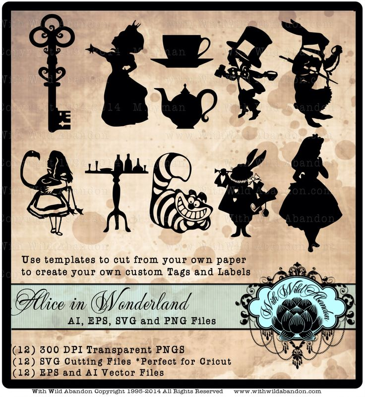 723 best alice in wonderland images on pinterest wonderland alice in wonderland svg clipart vectors cameo silhouette cricket explore svg pronofoot35fo Gallery