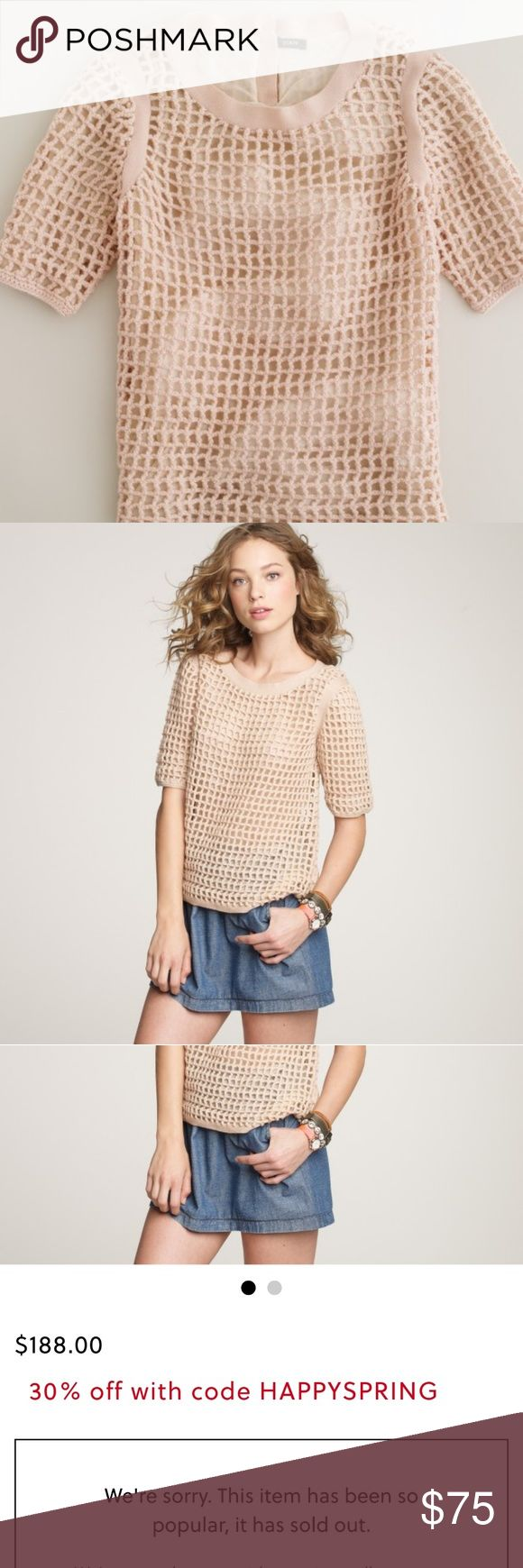 One day sale Sold Out JCrew Carrie crochet sweater In perfect condition J. Crew Tops