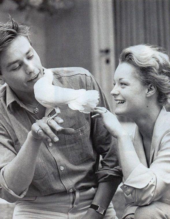 Romy Schneider and Alain Delon, 1961