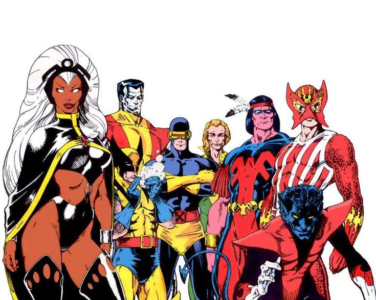X-men: Tormenta, wolverine, colosso, ciclope, banshee, ave de trueno y fuego solar :)