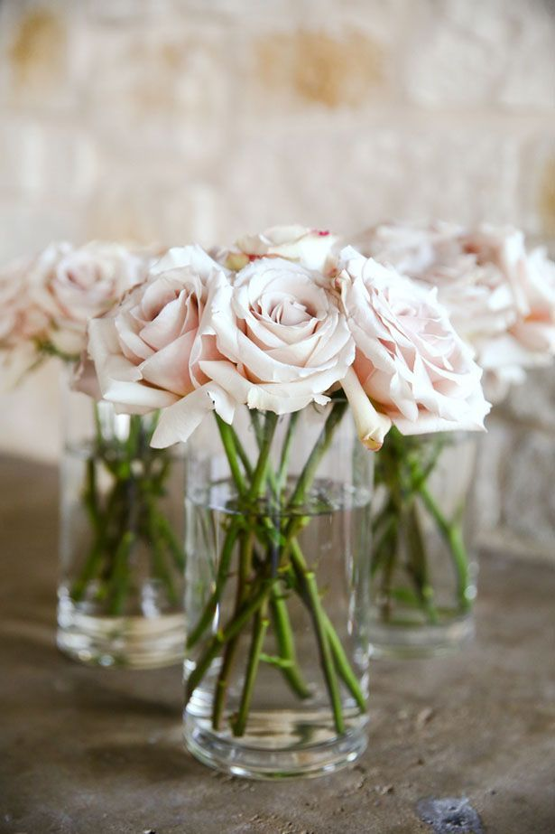 Blush Wedding Centerpiece - HydeParkPhoto