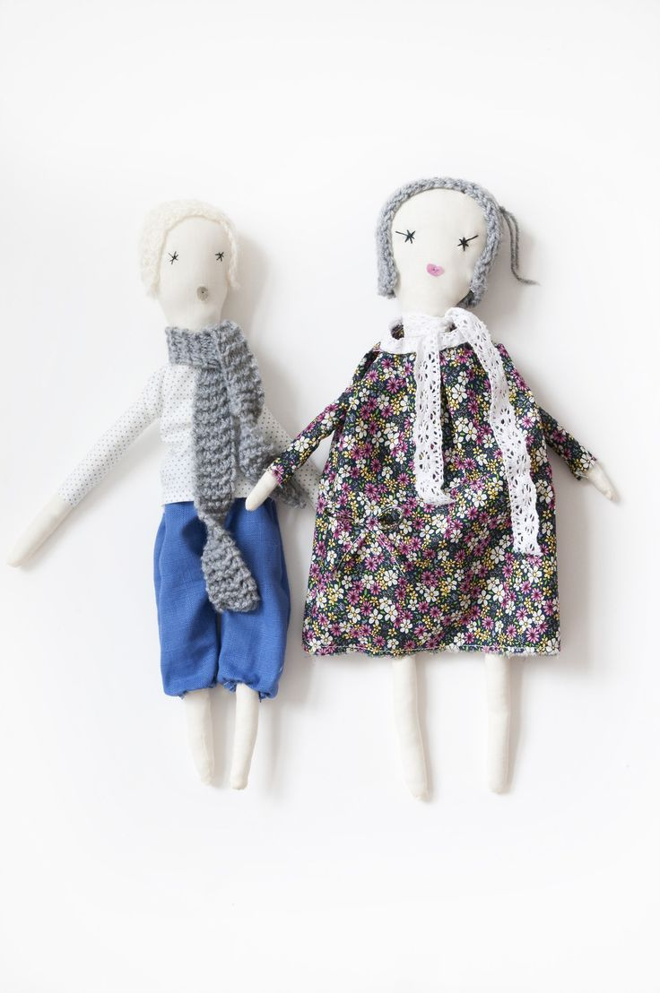 boy and girl rag dolls / poupée available on Etsy https://www.etsy.com/uk/listing/157997963/handmade-girl-rag-doll? https://www.etsy.com/uk/listing/157986850/handmade-boy-rag-doll?
