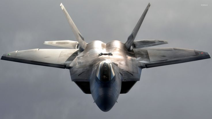 Lockheed Martin F-22 Raptor front view wallpaper
