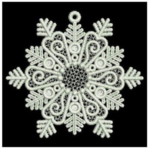 Ace Points Embroidery Design Fsl Snowflakes 3 43 Inches H