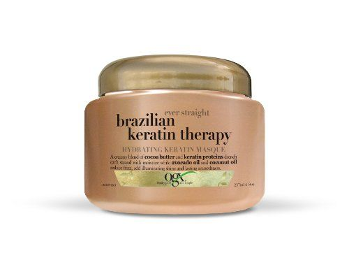 OGX Hydrating Keratin Masque, Ever Straight Brazilian Keratin Therapy, 8oz - http://essential-organic.com/ogx-hydrating-keratin-masque-ever-straight-brazilian-keratin-therapy-8oz/