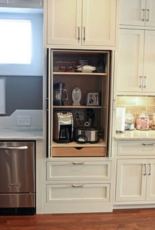 Kitchen Appliance Garage Makeover