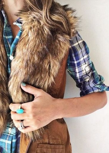 I don't normally love faux fur vests but am loving this one with just the faux fur collar.