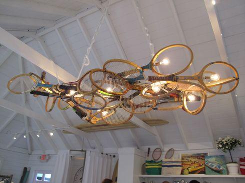#Lampada da #Racchette da #Tennis:   Tommy Hilfiger Beach House Pop Up New York Tennis Rackets