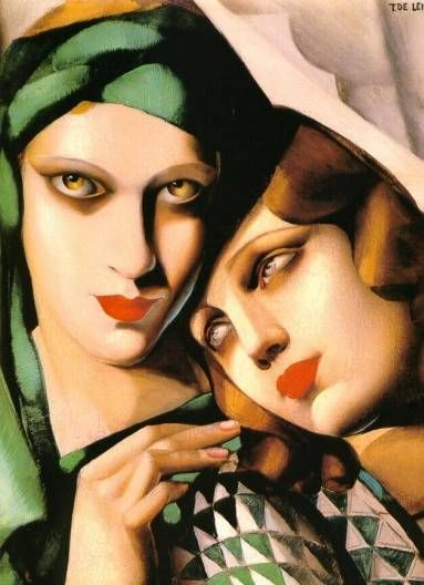 Tamara de Lempicka was such a talent ~ I love the luminous eyes!