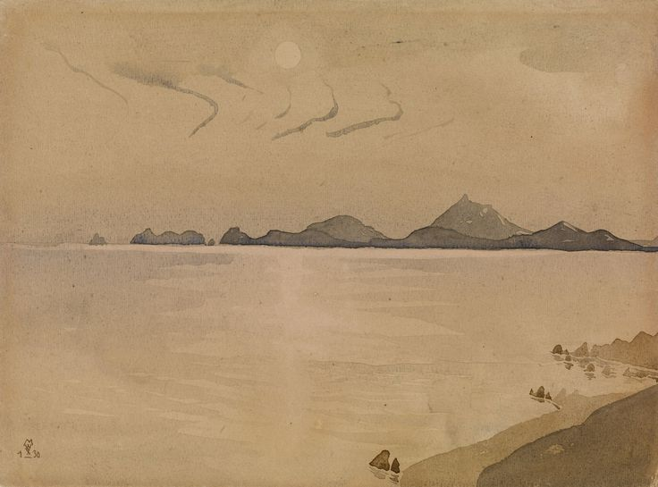 ".  VOLOSHIN, MAXIMILIAN (1878-1932)    Koktebel, signed with the artist's monogram and dated ""1 X 30"". Watercolour on paper, 21 by 28.5 cm"