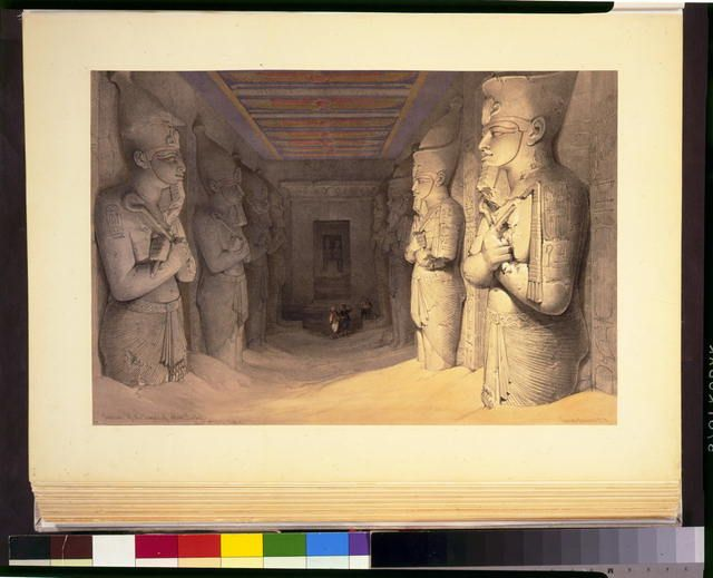 Interior of the Temple of Aboo-Simbel Novr 9th 1838 Nubia