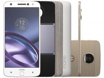 Smartphone Motorola Moto Z Power & Projector - Edition 64GB Branco e Dourado DualChip 4G Câm 13MP