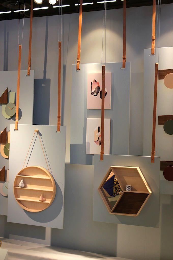 Clever us of space seen at Maison et Objet to display more products without overcrowding the stand.