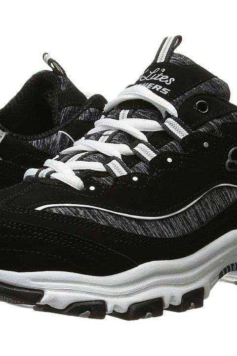 SKECHERS D'Lites Me Time (Black/White 1) Women's Lace up casual Shoes - SKECHERS, D'Lites Me Time, 11936-BKW, Footwear Closed Lace up casual, Lace up casual, Closed Footwear, Footwear, Shoes, Gift, - Street Fashion And Style Ideas