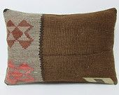 brown kilim pillow 16x24 brown pillow cover brown pillow case brown throw pillow brown cushion cover brown decorative pillow brown rug 21246
