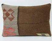brown kilim pillow 16x24 brown pillow cover brown pillow case brown throw pillow brown cushion cover brown decorative pillow brown rug 21246