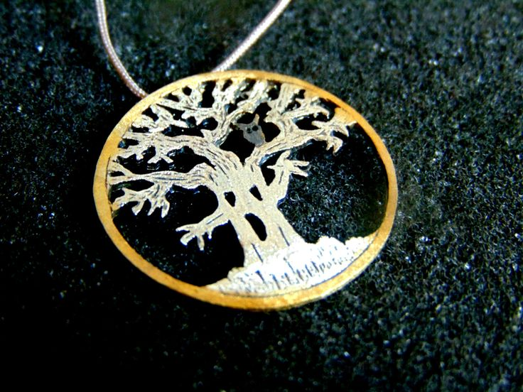 Sterling Silver Charm,Silver and Gold Plated Silver Charm Necklace, Creepy Tree Pendant,Unusual Womens Necklace,Artisan Jewelry,Greek Art by ArchipelagosBreeze on Etsy