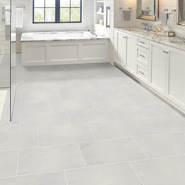 Incorporate A Touch Of Stylish Aesthetic With The Aria Ice Floor And Wall Tile This Rectangular Tile Combines A Polished Flooring Bathroom Flooring Tile Floor