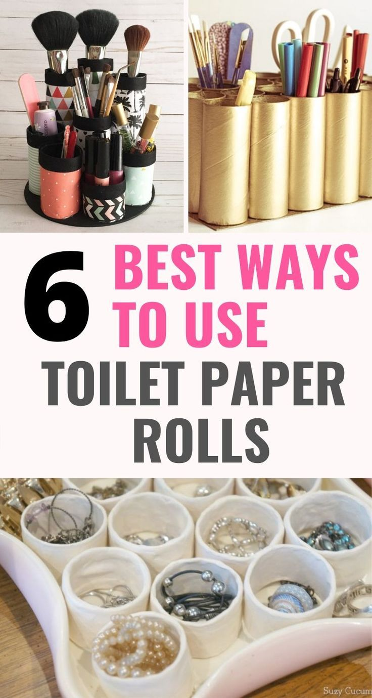 6 Mind Blowing Organization Hacks Using Toilet Paper Rolls Craftsonfire In 2020 Toilet Paper Roll Organization Hacks Toilet Paper