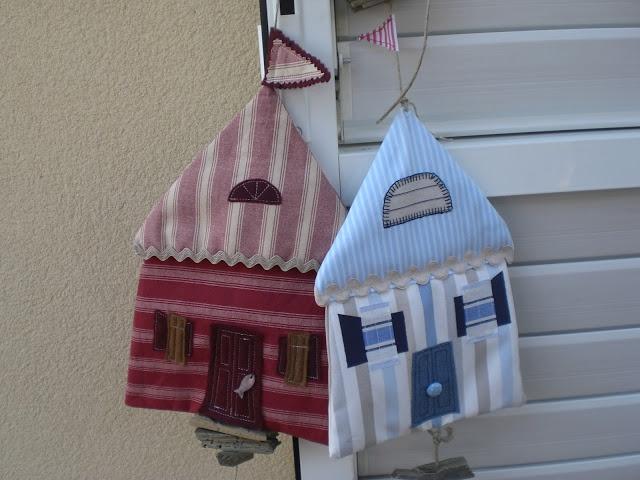 petites maisons à monter en guirlande