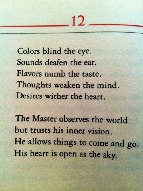 from the Tao Te Ching - i'm ready for the next thing whatever that may be :)