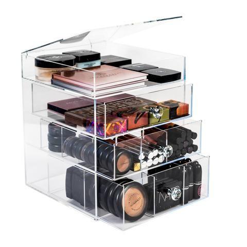 Clear Makeup Organizer, Acrylic Makeup Storage, Makeup Display Case