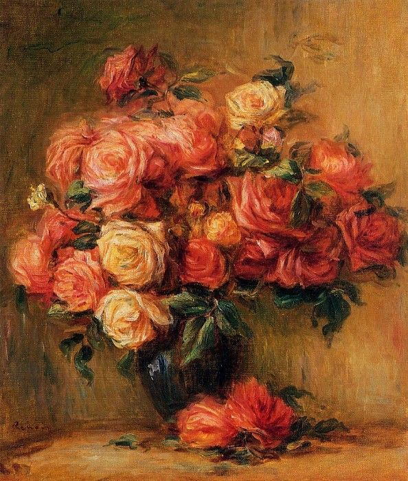 Bouquet of Roses   -  около  1890-1900. Пьер Огюст Ренуар