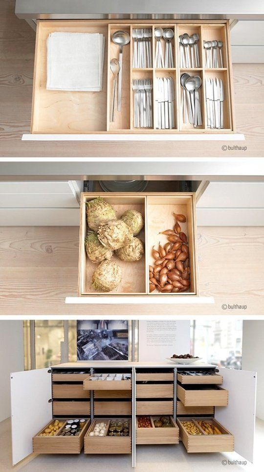 We're Totally In Awe of Bulthaup's Custom Kitchen Storage & Organizers