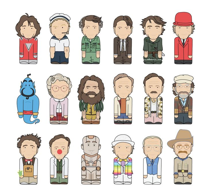 18 of Robin William's Best Characters Illustrated  Love these...He will be missed