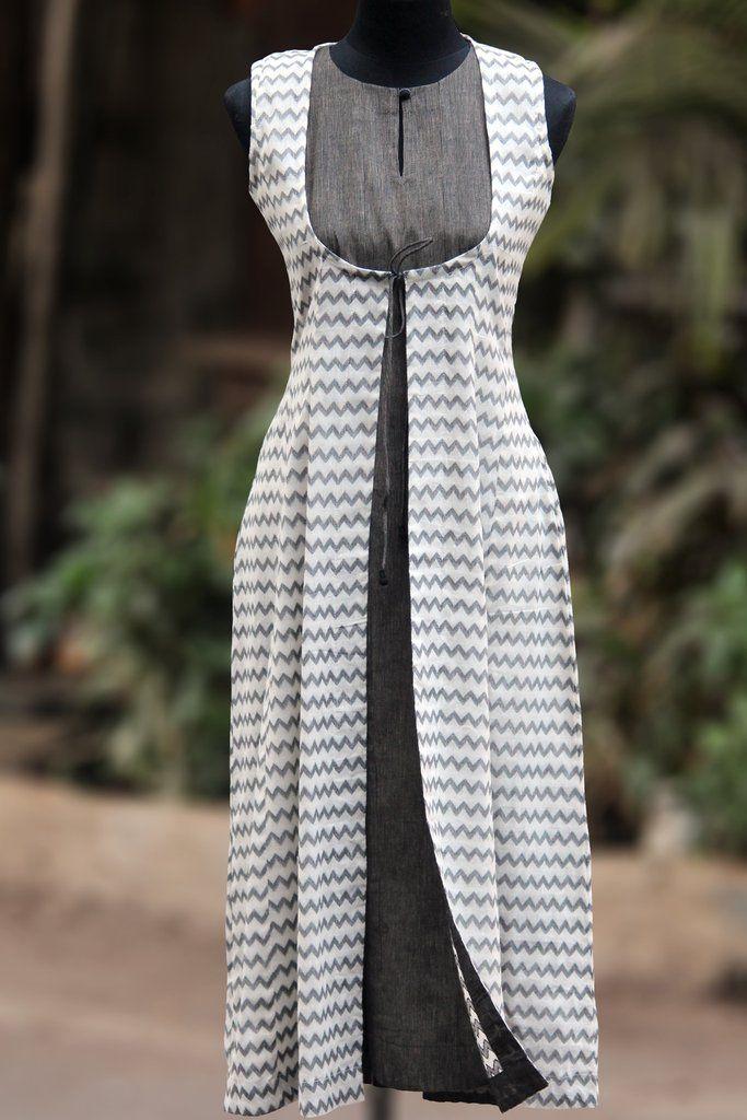 dress - mangalgiri & monochrome - sleeveless